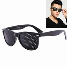Do pielęgnacji oczu poręczne okulary korekcyjne Improver Stenopeic otworkowa otwór zawleczki okulary przeciw zmęczeniu ochrona oczu Oculos De Grau tanie tanio shutter Brak corrective glasses Wciągające Okulary Tylko Lornetka NMEGOU correction glasses vision correction glasses