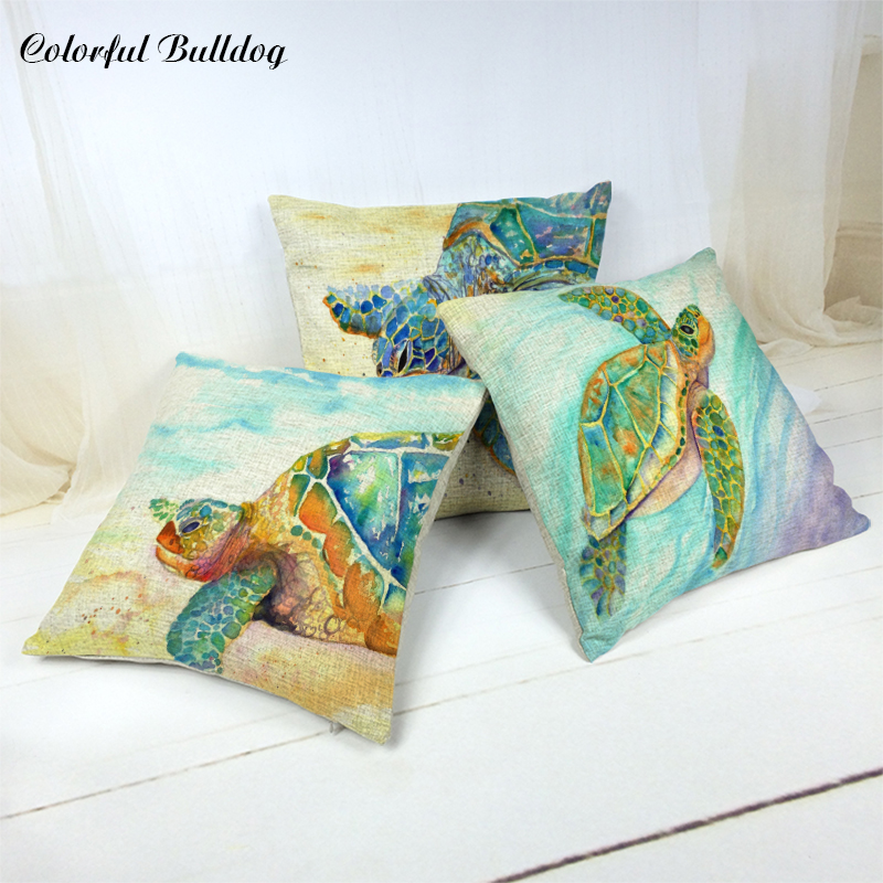 Car covers Cushion Cover Sea Turtle and Beautiful Sea View