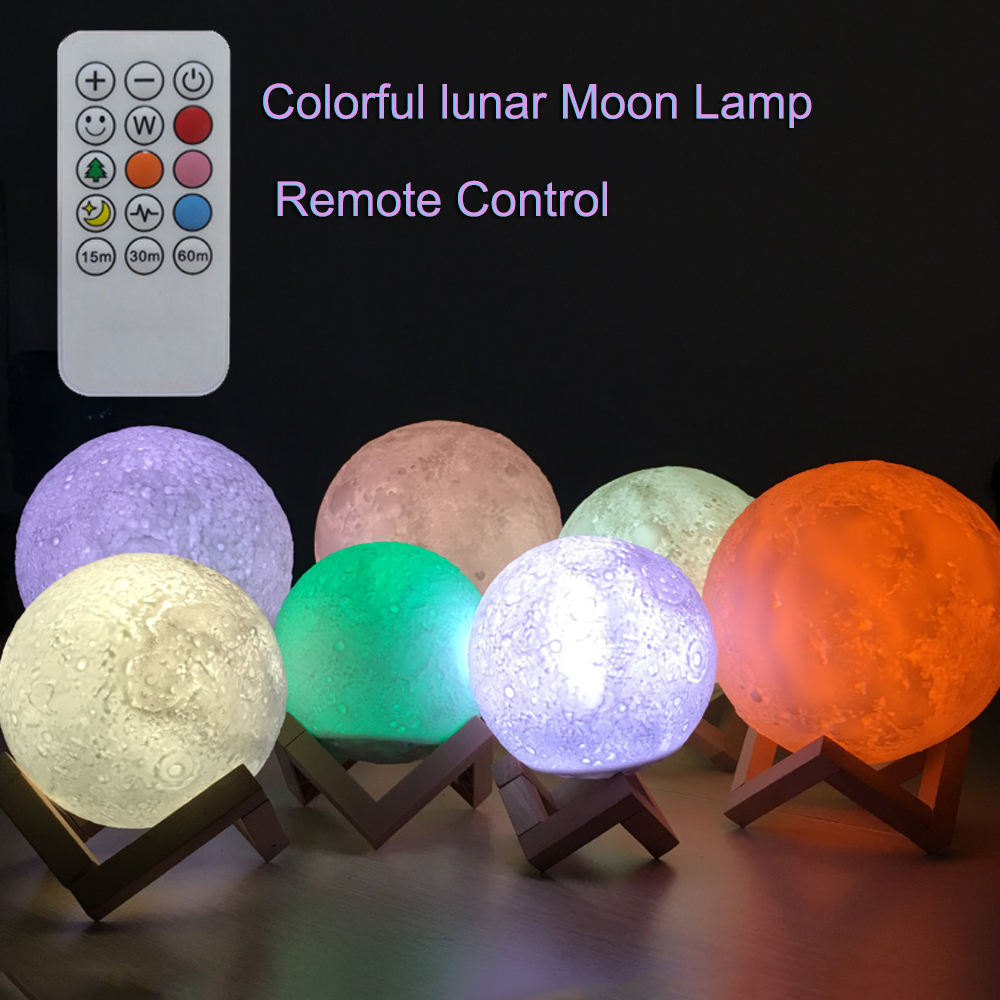 2018 Newest Touch Sensor 3d Night Light Moon Lamp USB Led Lights For Home Lamps Usb Led Lamp Luminaria Moon-lamp 7 Colors