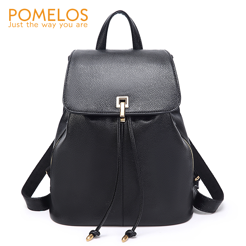 POMELOS Backpack Women 2018 New Arrival Fashion Women Backpack Soft PU Leather Backpack Anti Theft School Bags For Teenage Girls foxer 2018 new women leather bag fashion school bags for teenage girls women backpack