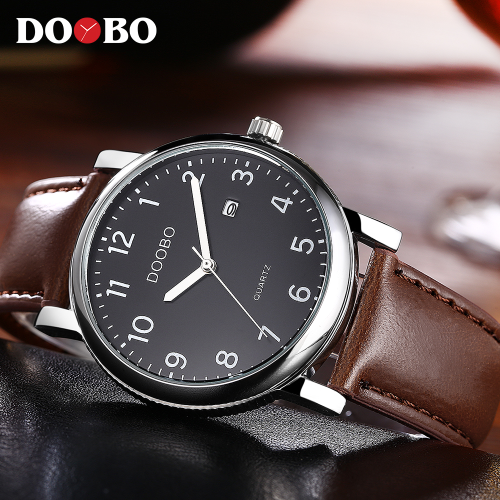 DOOBO Watch Luxury Brand Men's Watch Men Watch Fashion Auot Date Waterproof Watches Clock saat reloj hombre relogio masculino doobo men watch fashion mens watches top brand luxury leather business watch men clock saat relojes hombre 2017 relogio montre