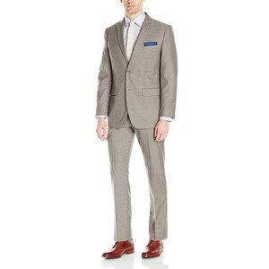 Traje de hombre de alta calidad con solapa de color caqui vestido de boda para hombre y trajes de oficina de negocios (chaqueta + pantalones) hecho a la medida