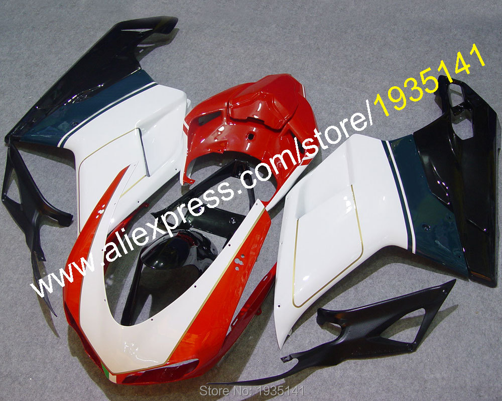 Hot Sales,Motorbike ABS Cowling For Ducati 848 1098 2007 2008 2009 2010 2011 1098S 1198 motorcycle Fairing (Injection molding)