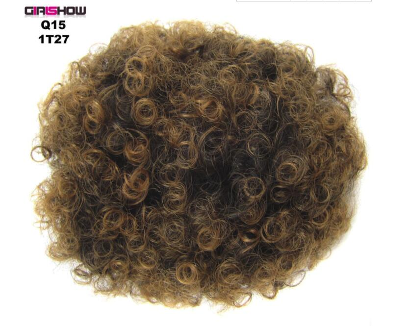 Beautiful Kinky Curly African Fluffy Artificial Afro Woman Puffs Ponytails