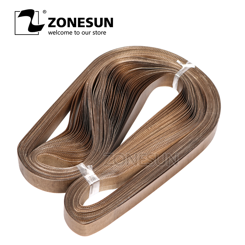 ZONESUN 50pcs/lot 750*15mm Teflon Belt For FR-900 /SF-150 Band Sealer/plastic Bag Sealing Machine/plastic Film Sealer