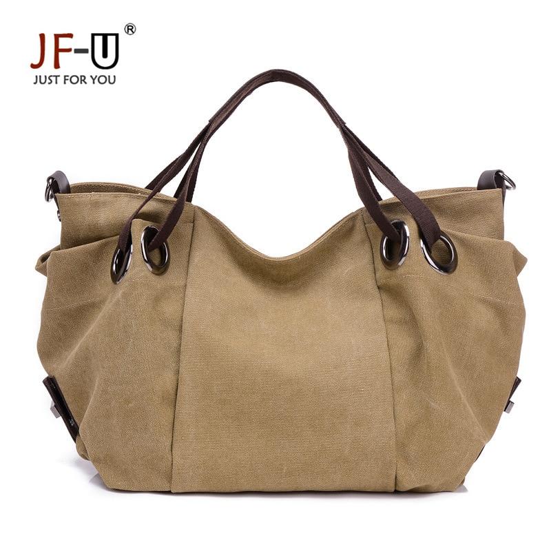 JF-U New Vintage Bag Handbag Women Famous Brand Women Canvas Bag Ladies Bag Women Shoulder Bag Female Bolsas Feminina Sac A Main