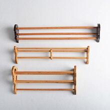 Sostenedor de taza de bambú estante doble capa de almacenamiento Taza taza creativa accesorios 5 especies de estilo chino artesanías hechas a mano naturales
