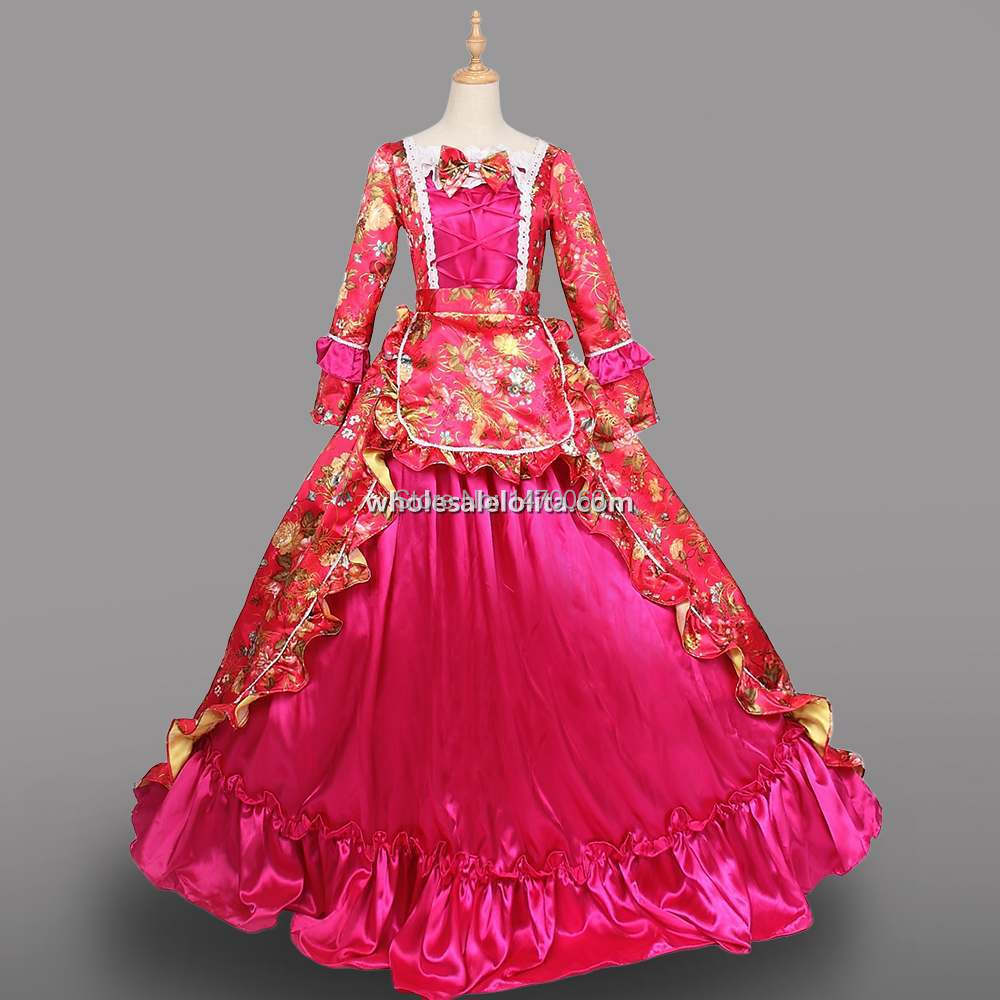 Christmas gown ideas 18th - 18th Century Rococo Dress Princess Marie Antoinette Long Costumes