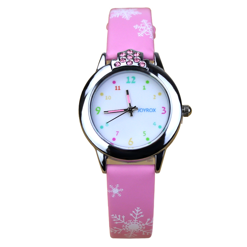 JOYROX Hot Princess Elsa Mønster Barn Watch Mote Crystal Cartoon - Barneklokker - Bilde 3