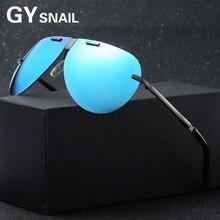 GYsnail new Hot Ray Classic retro aviator sunglasses men magnesium metal folding Rimless Polarized sun glasses for men's Driving