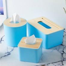 050 Fashion home Solid Wood Napkin Holder Wooden Plastic Tissue Box Case Home Kitchen Paper Holdler Storage Accessories