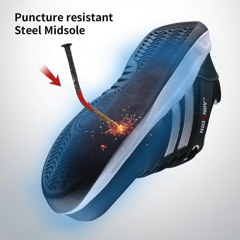 LARNMERN Miesten Steel Toe Cap Work Safety Kengät Unisex - Miesten kengät - Valokuva 5