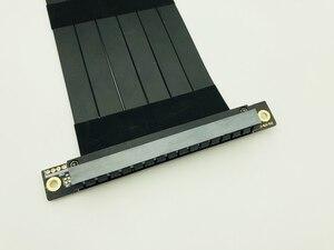 Image 5 - Cabo extensor flexível pci express 3.0 16x, alta velocidade, pc, placas gráficas, conector, cabo 23cm pcie riser