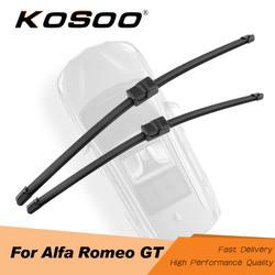 KOSOO для Alfa Romeo GT Fit сторона Pin/J крючок оружия 2003 2004 2005 2006 2007 2008 2009 2010, резиновые стеклоочистителя ветрового стекла