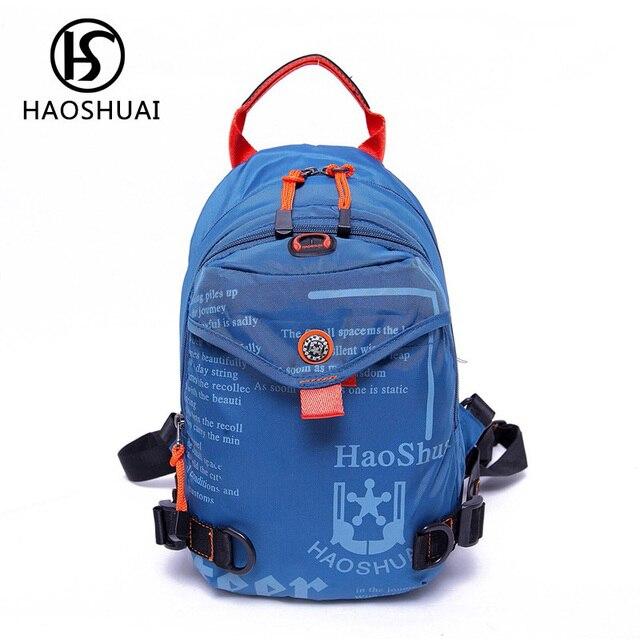 815b0f209 Bagpack multifuncional pequenas mochilas para homens bolsa Camuflagem menino  de escola mochila ombro funda no peito