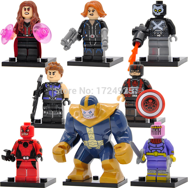 Single Sale Captain America Ant Man Figure Baron Zemo Scarlet Witch Thanos Crossbones Building Blocks Super Hero Models Toys single sale band figure john winston lennon paul mccartney george harrison ringo starr building blocks models toys