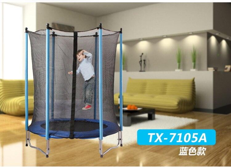 Lit de rebond de trampoline de gymnastique de trampoline de ressort sûr de 55 pouces pour des enfants avec le filet protecteur