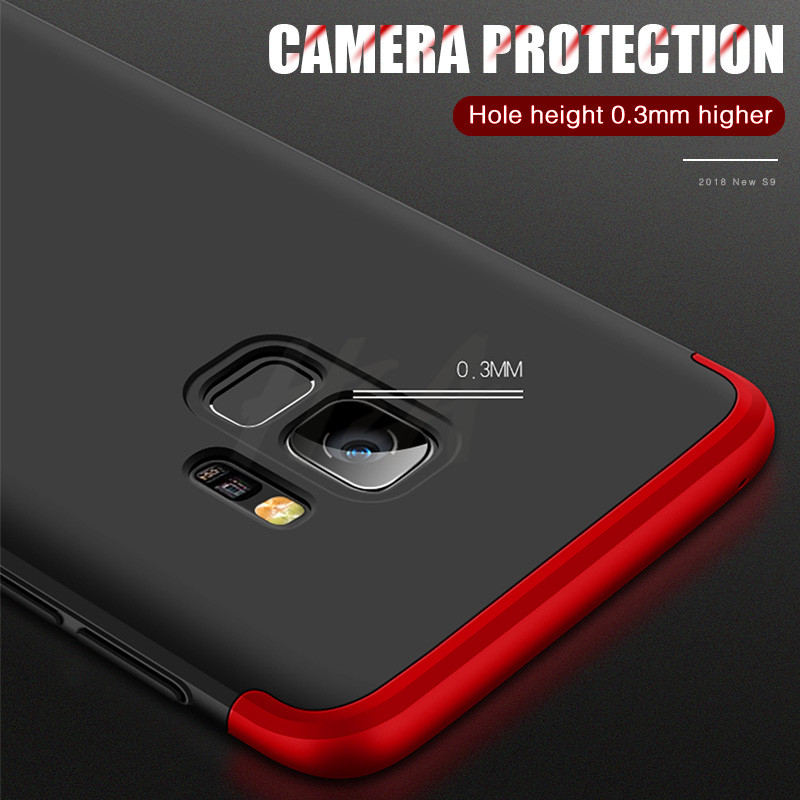H&A 360 Full Protective Phone Case For Samsung Galaxy S9 S8 Plus S6 S7 Edge Matte PC Shockproof Cover For Samsung Note 9 8 Cases