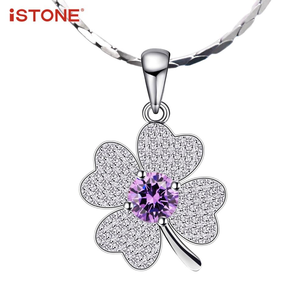 iSTONE Natural Gemstone Pendants 925 ստերլինգ արծաթյա - Նուրբ զարդեր - Լուսանկար 1