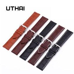 UTHAI Z08 Uhr Band Echtes Leder Straps 10-24mm Uhr Zubehör Hohe Qualität Braun Farben Uhrenarmbänder