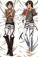 Free Shipping New Japanese Anime hugging pillow case Attack on Titan 77037