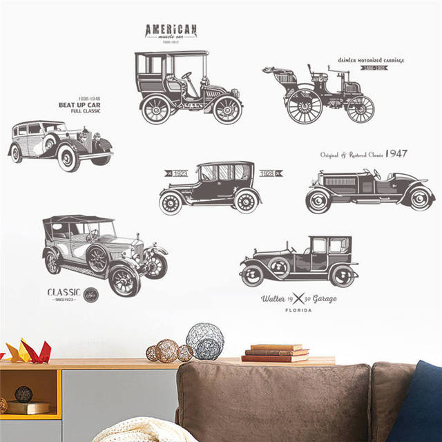 1 Pc 30 90 Cm Pvc Self Adhesive Wall Stickers Clic Car Pattern Window Furniture Wallpaper Bedroom Living Room Mural Decals
