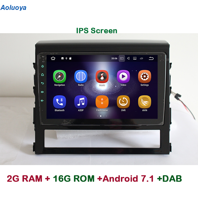 Aoluoya IPS 2G RAM Android 7.1 CAR DVD Radio GPS Navigation For Toyota Land Cruiser 200 LC200 2016 2017 Quad Core mirror link BT