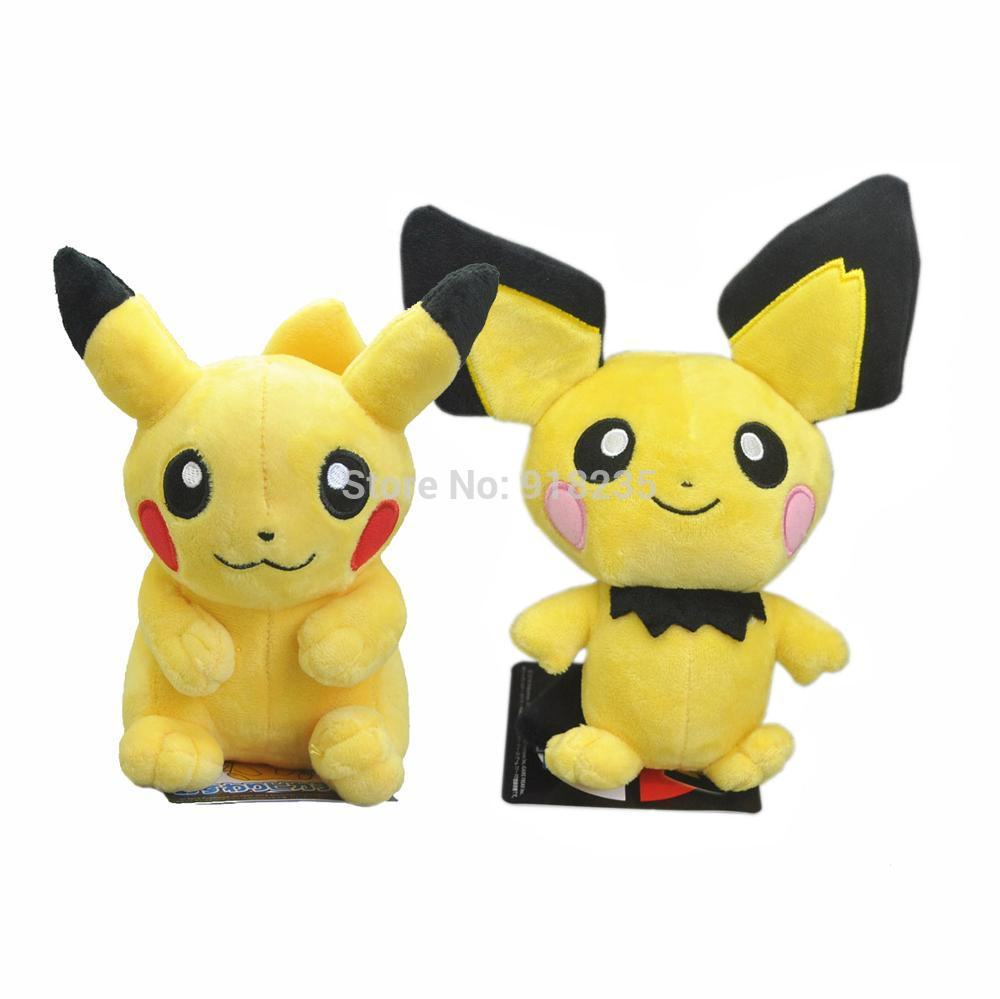 10 Lot Cute Pichu Pikachu 7 8 Plush Doll For Animal Dolls Soft Kids Gifts Stuffed