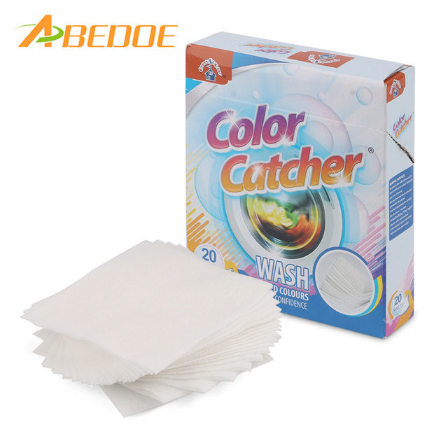 ABEDOE 20 Sheets Anti Cloth Dyed Leaves Laundry Color Run Remove ...