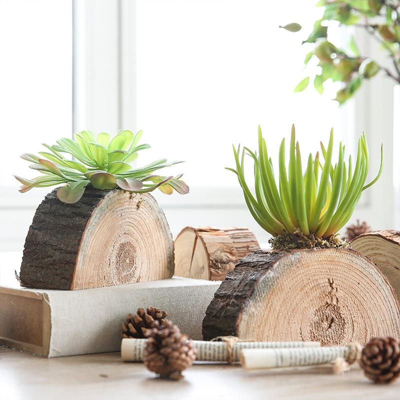 Miz 1 Piece Artificial Plants Home Garden Accessories Succulent On Wood  Stake Artificial Succulent Plants For Home Decoration In Artificial U0026 Dried  Flowers ...