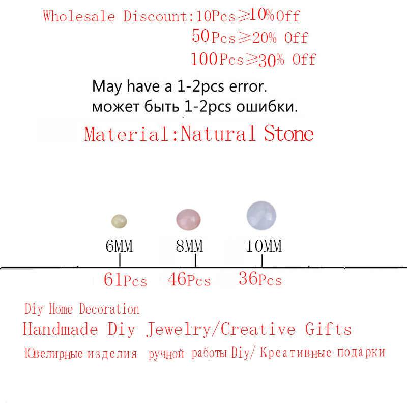 Natürliche Stein Morganite Farbe Chalcedon Perlen Runde Lose Perlen 6mm 8mm 10mm Für DIY Halskette Armband Schmuck, der