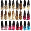 "22"" 170g Synthetic Claw Ponytail Clip In On Hair Extension Wavy Curly Style Ombre Two Tone Pony Tail Hair Pieces 21 Colors"