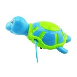 Brinquedo do Banho do bebê Banho de Natação da tartaruga de Água Flutuante cadeia ferida-up Do Bebê Crianças Clássicos Brinquedos Cor Aleatória