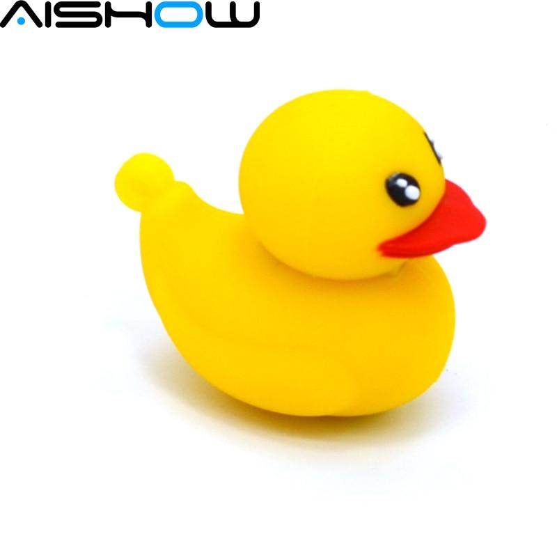 Yellow Duck U Disk pen drive cartoon 128 mb/8gb/16gb/32gb/64gb bulk duck usb flash drive flash memory stick pendrive mini gift
