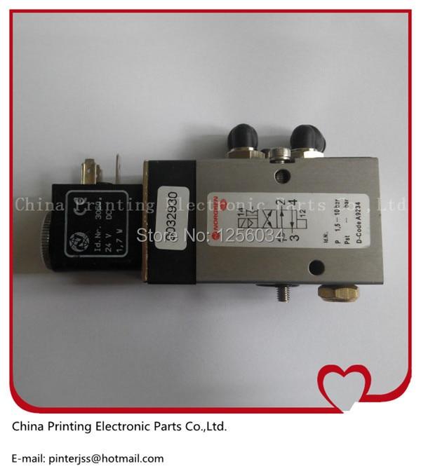 2 pieces 98.184.1051 solenoid valve for heidelberg, Heidelberg valve cylinder 98.184.1051/02, 2625484, 2622083