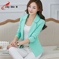Single Button Female Blazer Lace 2016 Spring Women's Elegant Slim Outerwear  Short Formal Office Suits Work