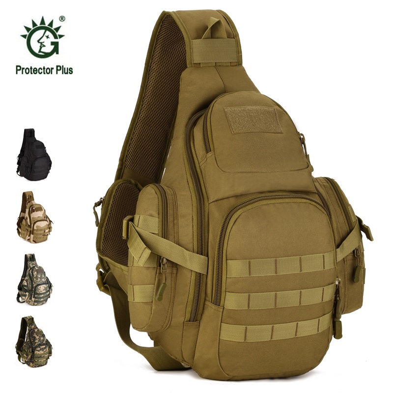 Military Tactical Backpack Waterproof Shoulder Bag Molle Chest Pack Camping Hiking Camouflage Bags Fishing Hunting Backpacks men s tactical molle assault go bag camouflage shoulder sling army bags military hiking camping pack fishing backpack xa192wd