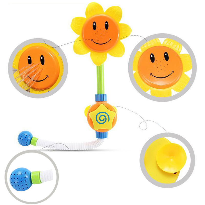 Baby Bath Toys Kids Sunflower Shower Faucet Head Toy Colorful Plastic ABS Bathing Water Children Gift In From Hobbies On