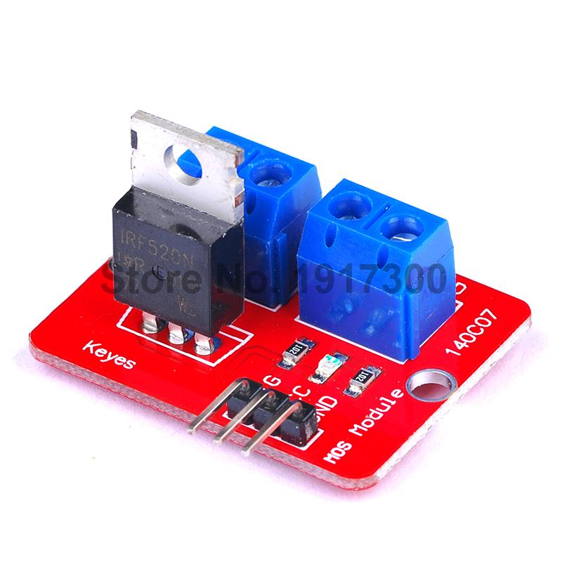 1PCS 0 24V Top Mosfet Button IRF520 MOS Driver Module For Arduino MCU ARM font b
