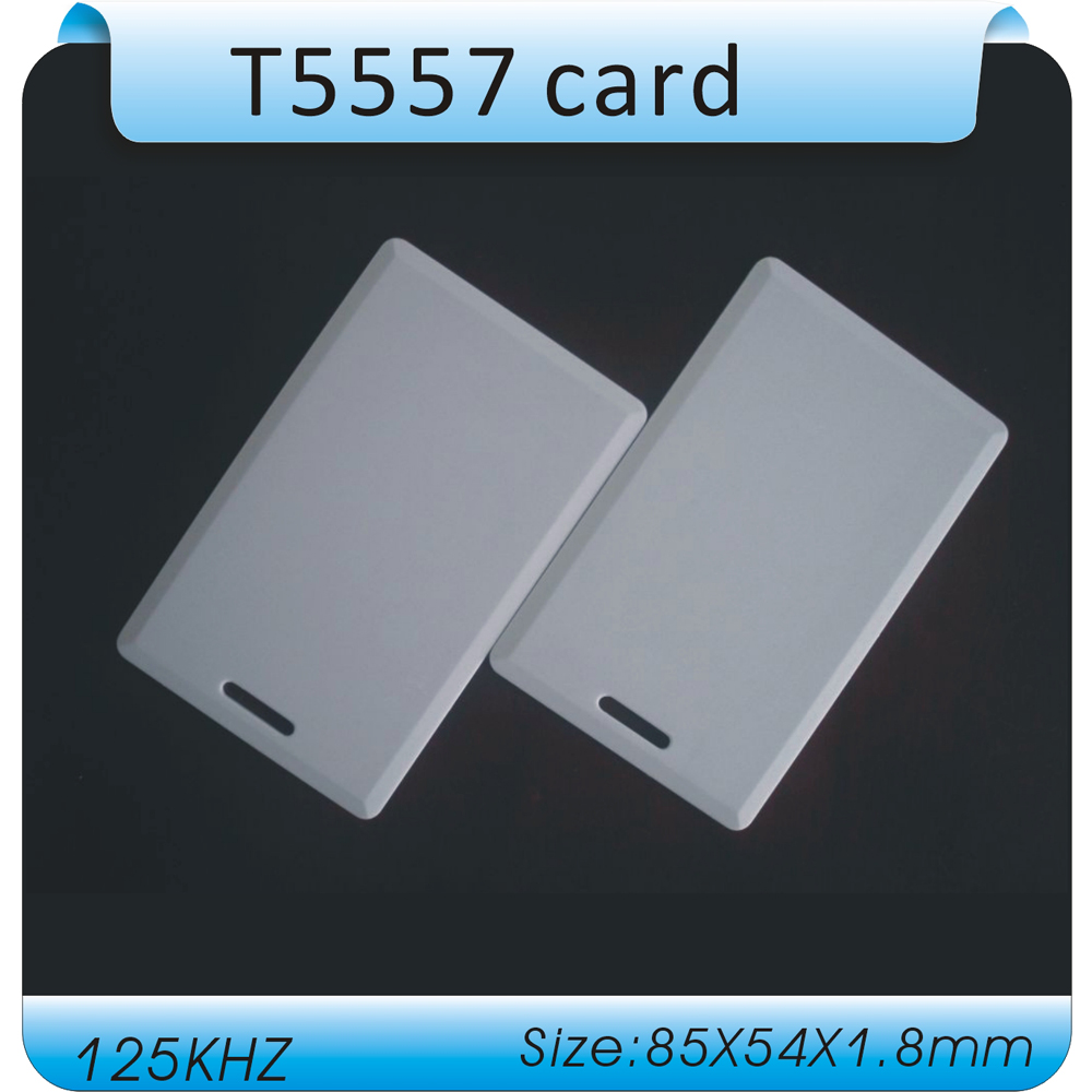 (50 pcs) 125Khz RFID Writable Cards T5577 T5557 Thick card Rewrite Proximity Access Control