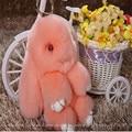 2016 Moda de Piel de Conejo Real High18com Variedad de Color del encanto del bolso colgante llavero Llavero de Coche Juguetes Para niños Accesorios
