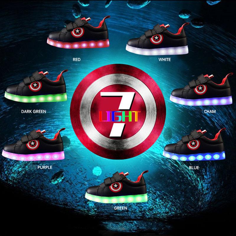 Ładowarka USB świecące trampki Lekkie dziecięce buty dla - Obuwie dziecięce - Zdjęcie 5