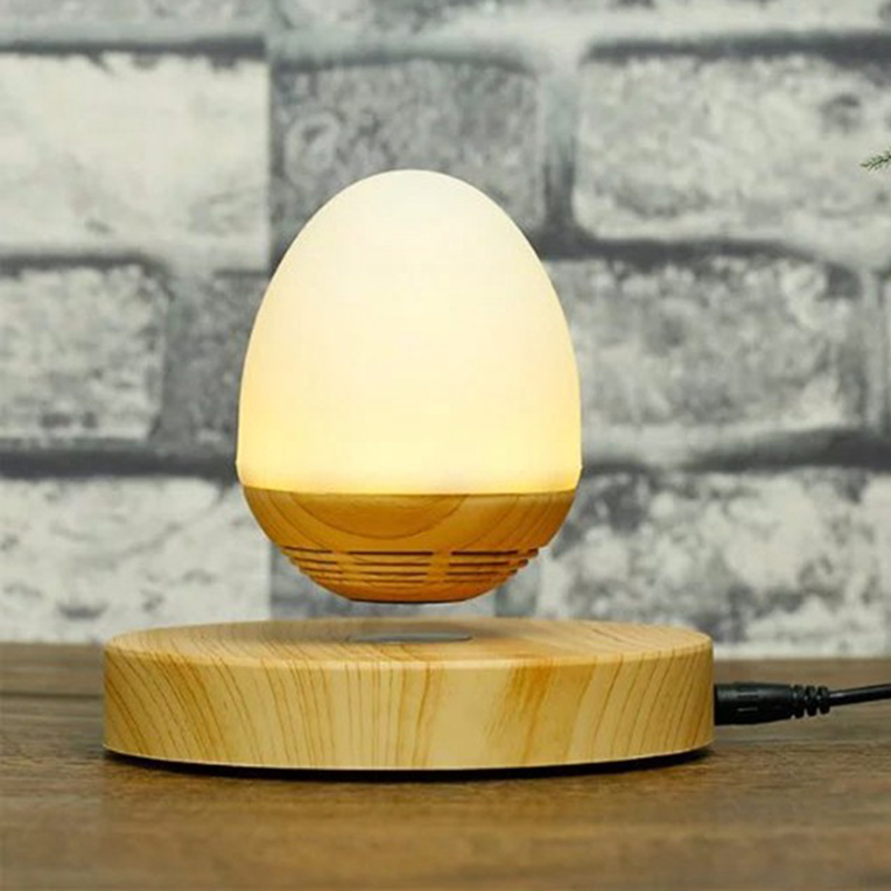 oobest Wooden New Grain Wireless Floating Bluetooth Speaker with LED Light Lamp for Smartphones IOS Android Wireless Night light kmashi led flame lamp night light bluetooth wireless speaker touch soft light for iphone android christmas gift mp3 music player