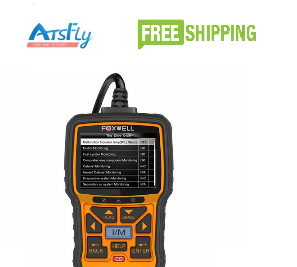 Foxwell NT301 OBDII/EOBD Code Reader Better Than Autel AL519 Multi-Language 100% original autel maxidiag elite md701 all system ds model obdii auto code reader md 701 for japanese cars