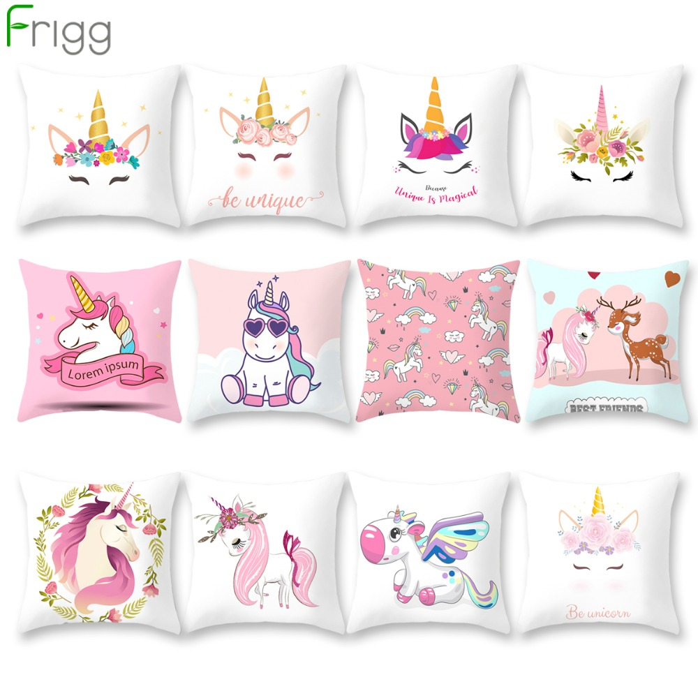 Remarkable Us 1 5 22 Off Frigg Unicorn Sofa Decorative Cushion Covers Cartoon Owl Seat Cushion Chair Home Decor Pillow Case Pillowcase 45 45 Pillow Cover In Caraccident5 Cool Chair Designs And Ideas Caraccident5Info
