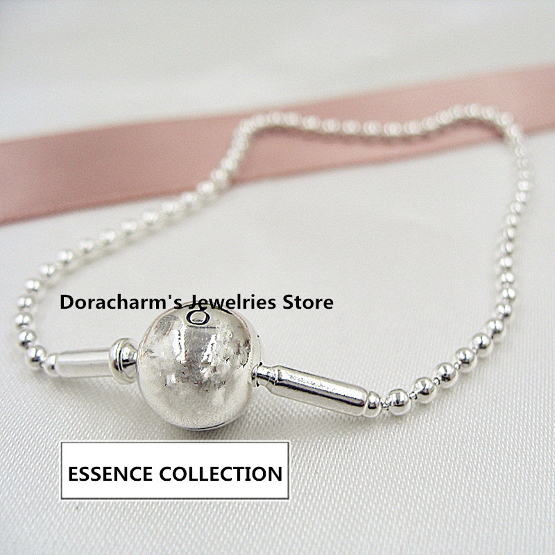 NEW! Perfect Charm logo Engraved Pulseras S925 Silver Bracelets chain charms Moments Hearts Bracelet women jewelry making, 1pz недорго, оригинальная цена