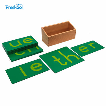 Baby Toy Montessori Language Lower Case Double Sandpaper Letters Early Preschool Brinquedos Juguetes