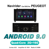 Navirider OS 9.0 Car Android Player For PEUGEOT 407 black stereo radio gps navigation bluetooth TDA7851 Amplifier sound System
