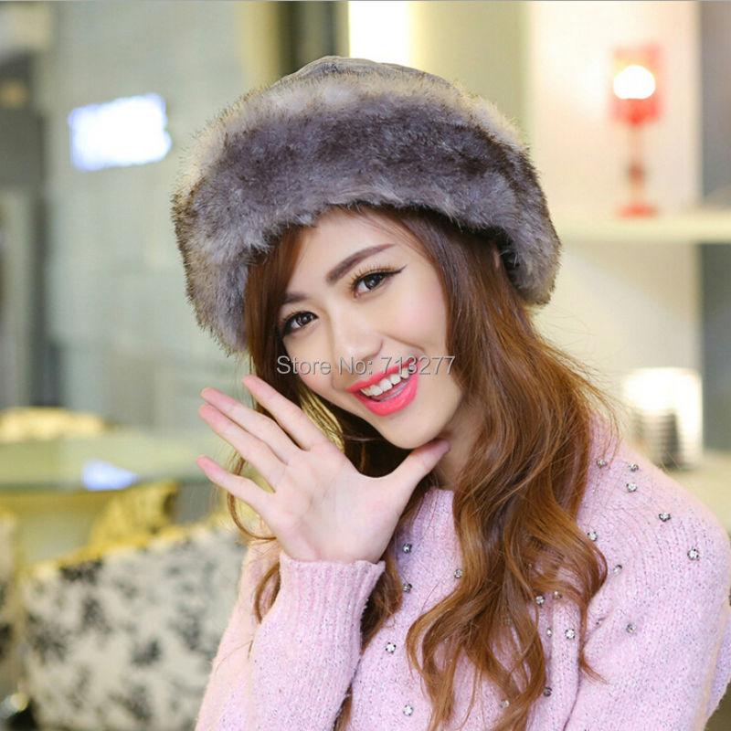 Fur Hats Russian-Hat Aviator Bomber-Cap Trapper Women HT406 Feng Lei Proof Soft-Fur