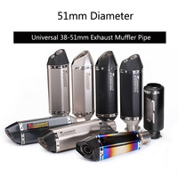 Universal 38 51 mm Exhaust Muffler Pipe Motorcycle Silencer Stainless Steel Tail Escape with Removable DB Killer Dirt Bike ATV